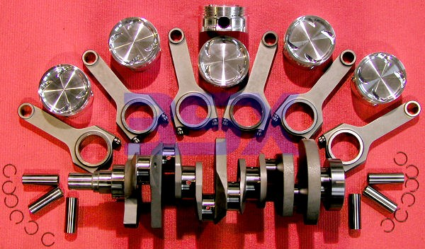 Custom Stroker Kit for 6G72 - Brian Crower Billet Crankshaft, 3SX Rods,  Ross Pistons - COMPLETE!