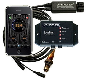 Picture of Innovate OT-2 OpenTune OT2 WiFi OBD-II and LC-1 WideBand DataLogger 3831 / 3832