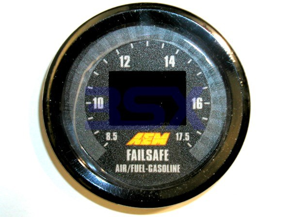 Picture of AEM Wideband Air-Fuel FailSafe Gauge - Wideband and Boost in ONE with Datalogging - 30-4900