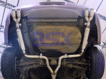 Picture of 3SX NA Catback Exhaust System w Quad-Tips Stainless Steel Cat-Back
