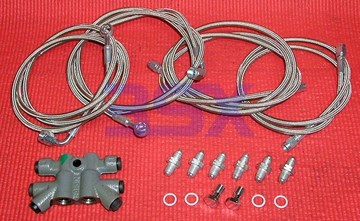 Picture of 3SX ABS Delete Kit w Stainless Steel Lines + OEM Prop Valve - 3000GT Stealth