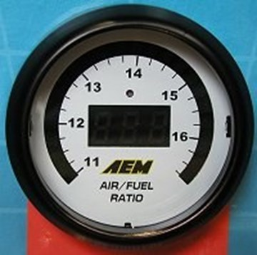 Picture of AEM Wideband Gauge Air Fuel 52mm WITH O2 Sensor (6-in-1) - 30-4110 (UPDATED SENSOR) (formerly 30-4100)