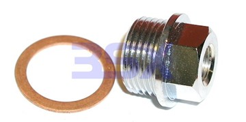 Picture of Water/Meth Adapter Reducer M20x1.5 Male w 1/4in hole to 1/8-NPT Female