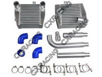 Picture of CXRacing SMIC Kit Side Mount Intercooler Kit - Cores+Adapter Pipes ONLY 3000GT Stealth