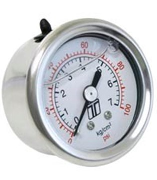 Picture of TurboSmart Fuel Pressure Gauge 1.5inch 100 psi 1/8 NPT