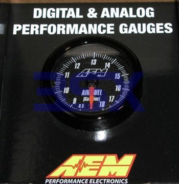 Picture of AEM ANALOG Wideband Gauge A/F 52mm WITH Sensor 30-5130 Black