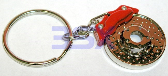 Picture of Key Chain Brake Caliper w Spinning Rotor - Red