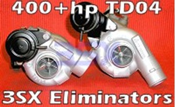 Picture of 3SX TD04 Turbos - 3SX Eliminators V2 - 400+hp BILLET Turbos