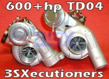 Picture of 3SX TD04 Turbos - 3SXecutioners V2 - 600+hp BILLET Turbos - 3SX Executioners