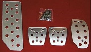 Picture of Aluminum Pedal Covers 3S - PLAIN No Logo