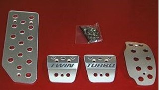Picture of Aluminum Pedal Covers 3S - Twin Turbo