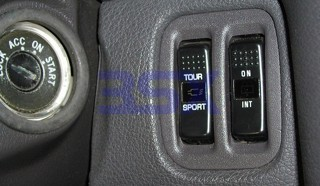 Picture of **DISCONTINUED** PANEL-2072 - Switch PANEL for Rear Wiper 91-95 Grey 2-Slots
