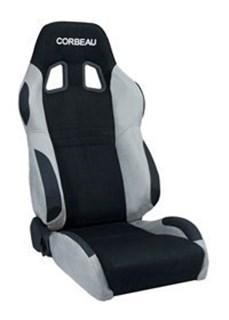 Picture of Corbeau Seat A4 - Black+Grey MicroSuede
