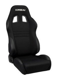 Picture of Corbeau Seat A4 Wide - Black Cloth