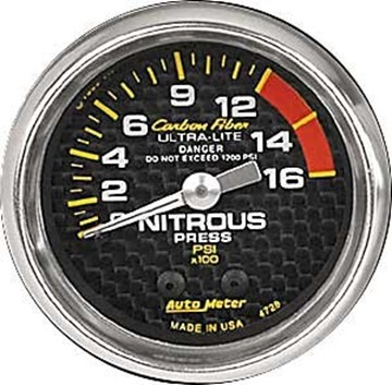 Picture of Autometer Nitrous Pressure Carbon Fiber Gauge 4728