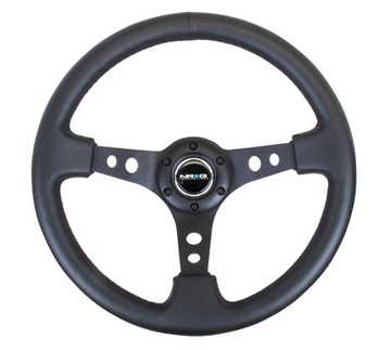 Picture of NRG Steering Wheel, Round Bottom, Deep Dish
