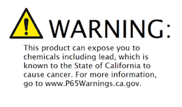 Picture of Prop 65 Warning!