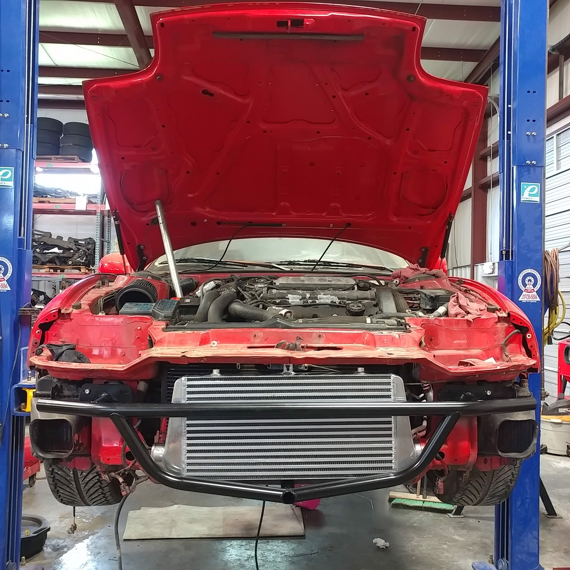 Picture of 3SX Front Crash Bar with InterCooler Mounts and Lower Brace